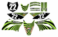 Swirl Series Fast Times KLX110 2010-2018 Graphics Kit (Green)