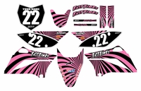 2010-2018 KLX110 Graphics Kit (Pink) Swirl Series by Fast Times