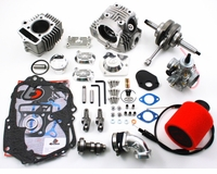 "Trail Bikes ""V2"" Race Head Kit, 88cc Bore Kit, VM26 Carb Kit, and Stroker Crank Honda CRF50"