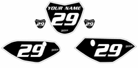 Yamaha TTR110 Custom Pre-Printed Black Backgrounds White Bold Pin by Fast Times