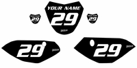 Yamaha TTR110 Custom Pre-Printed Black Backgrounds White Number by Fast Times