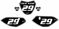Yamaha TTR110 Custom Pre-Printed Black Backgrounds White Number/Pinstripe by Fast Times