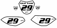Yamaha TTR110 Custom Pre-Printed White Backgrounds Black Bold Pin by Fast Times