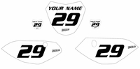 Yamaha TTR110 Custom Pre-Printed White Backgrounds Black Name/Number by Fast Times