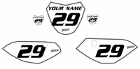 Yamaha TTR110 Custom Pre-Printed White Backgrounds Black Number/Pinstripe by Fast Times