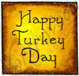 A8731 Vintage Happy Turkey Day In Square