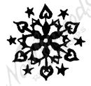 AA10380 Solid Snowflake