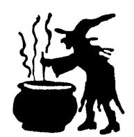 B10281 Silhouette Witch And Pot