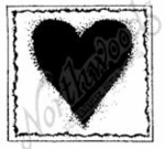 B7240 Solid Heart In Deckle Square