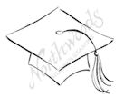 B7458 Small Sketch Graduation Cap
