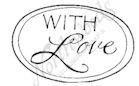 B8409 Oval Mixed Font With Love