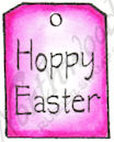 B8472 Modern Hoppy Easter Tag