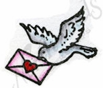 B8925 Bird With Heart Envelope