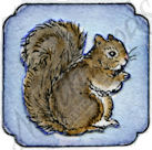 B9056 Tiny Squirrel In Curved Frame