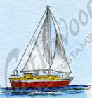 B9549 Tiny Sailboat