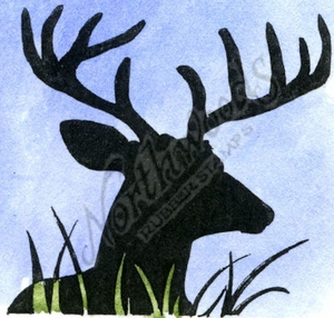 B9987 Silhouette Deer Head