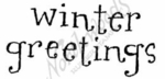 BB7842 Whimsy Lower Case Winter Greetings