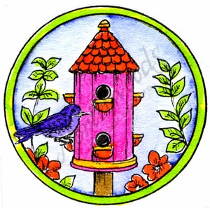 C10011 Round Birdhouse In Circle