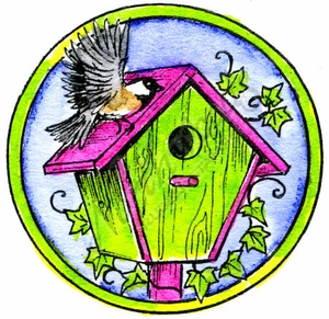 C10013 Chickadee Birdhouse In Circle