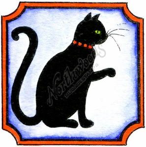 C10060 Cat In Notched Square