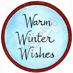 C10175 Traditional Warm Winter Wishes In Circle Frame