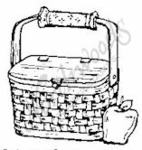C3601 Basket With Apple