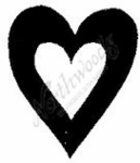 C4533 Cutout Heart - Large