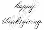 C4821 Lower Case Happy Thanksgiving