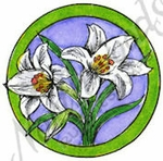 C8464 Circle Easter Lilies