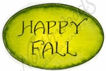 C8724 Vintage Happy Fall In Oval