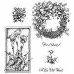 Calla Lilies & Wreath Cling Mounted Stamp Set