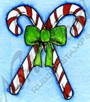 C9658 Candy Canes And Bow