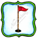 CC10032 Golf Flag In Frame