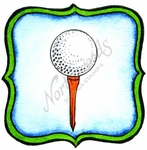 CC10033 Golf Ball On Tee In Frame