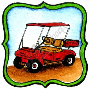 CC10034 Golf Cart In Frame