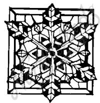 CC3976 Stained Glass Snowflake
