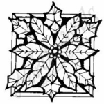 CC3977 Stained Glass Poinsettia
