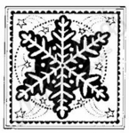 CC3995 Starry Snowflake Square