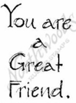 CC4690 Sketch You Are A Great Friend