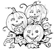 CC4703 Three Smiling Pumpkins