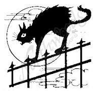 CC4720 Scaredy Cat On Fence