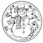 CC4876 Snowman With Bird Circle