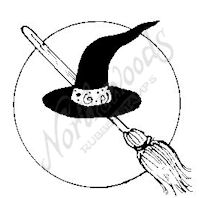 CC6178 Hat, Broom and Moon