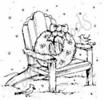 CC6299 Small Adirondack Chair With Wreath