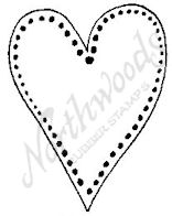 CC6448 Medium Dotted Open Heart