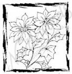 CC6807 Poinsettias In Sketch Frame