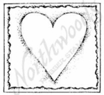 CC7234 Open Heart In Deckle Square