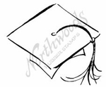 CC7455 Sketch Graduation Cap With Tassel