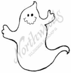 CC7515 Ghost With Funny Smile