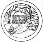 CC7697 Sm. Snowy Gazebo Circle